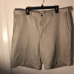 Haggar shorts with stretchy sides.